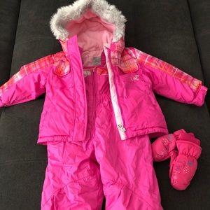 2T Girls Zero Xposur Snow Bib and Jacket Set